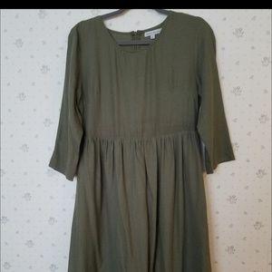 Stevie Hender olive midi lace dress